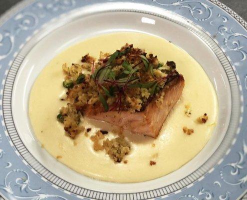 #PáscoaTulipas Dicas para Páscoa: salmão em Crosta de Pistache