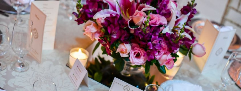arranjos de mesa para casamento