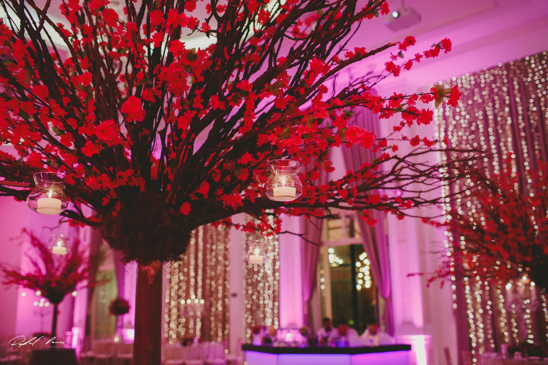 elementos do salão com decoração