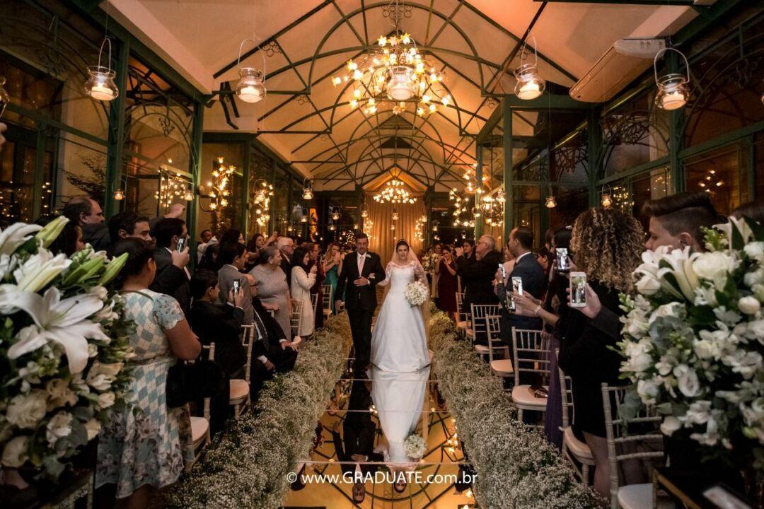 convite de casamento: entrada da noiva