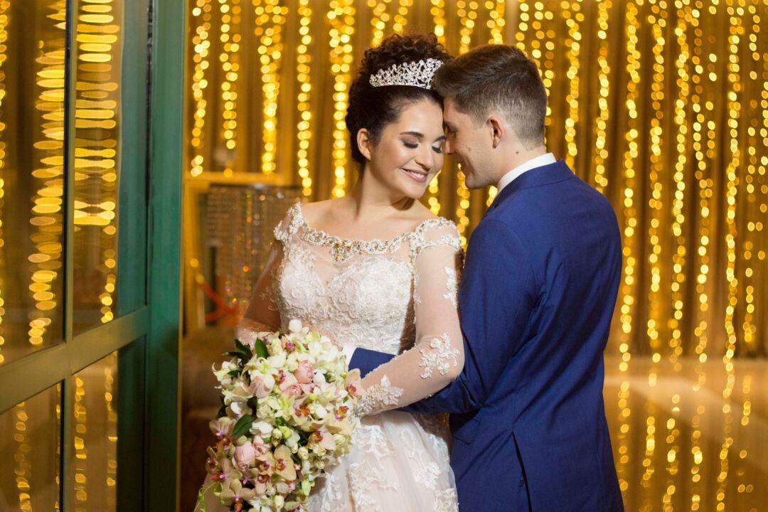 convite de casamento: noiva e noivo