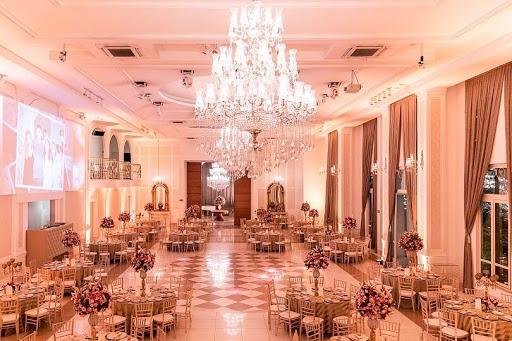 decoração do salão de festas do casamento