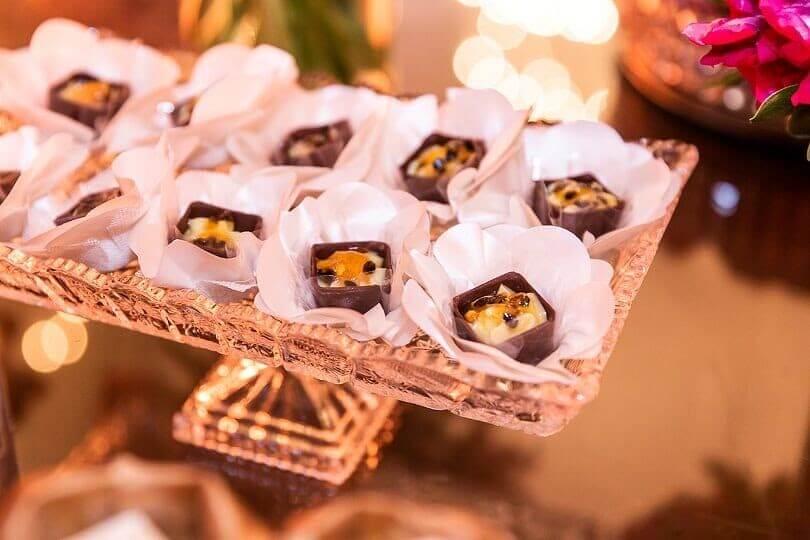 docinhos no cardápio de buffet para casamento