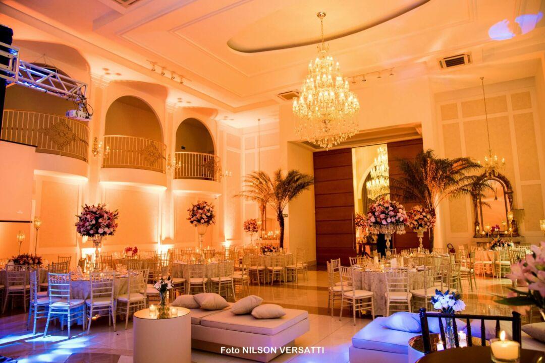 iluminação no lounge casamento
