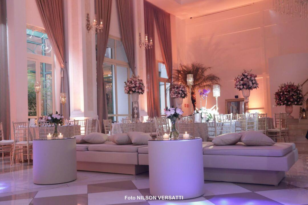 Inspiração de lounge casamento