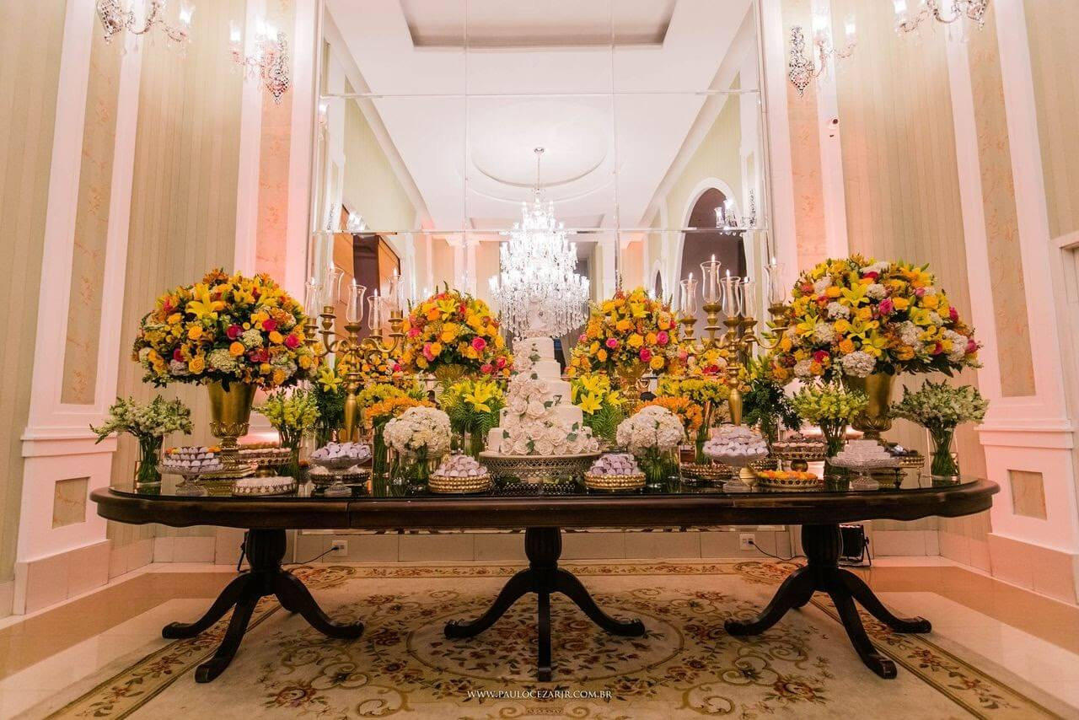 Orçamento para festa: imagem retrata um buffet de qualidade.